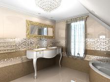 Разработка интерьера ванной комнаты ( по желанию