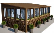Визуализация летней террасы