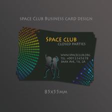 """Дизайн Евро-Визиток, 86х55мм, """"Space Club"""""""