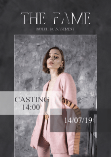 Афиша для модельного агентства