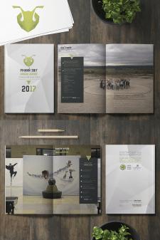 Дизайн и верстка ежегодного отчета + логотип