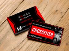 """Визитка магазина спортивной одежды """"Crossfiter"""""""