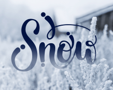 """Леттеринг """"Snow"""""""