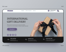 Main page of international gift delivery.