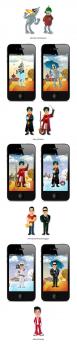 Иллюстрации для мобильного приложения.