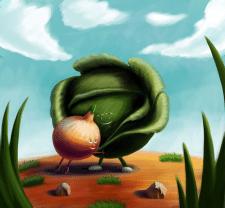 Встреча луковицы и капусты после долгой разлуки
