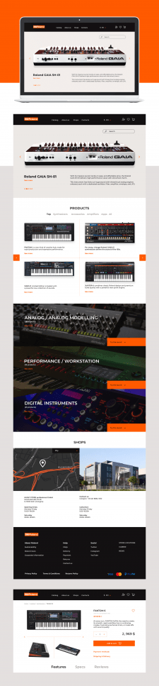 E-Commerce Roland Synthesizers