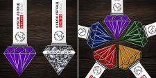 Разработать дизайна медалей/ленты + визуализация.