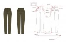 Технический эскиз одежды вашего дизайна