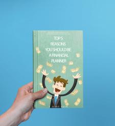 Дизайн книжной обложки (тема: богатство)