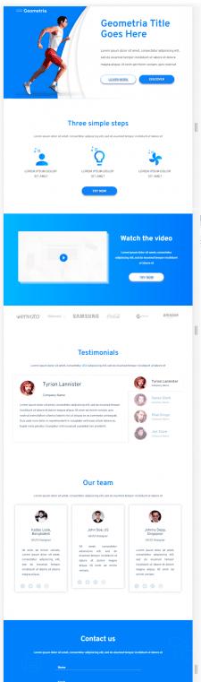 Сайт написан на фреймворке Bootstrap
