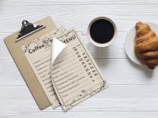 меню для кофейни
