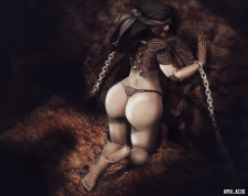 demonic witch captured by the Inquisitio