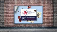 Рекламный баннер для школы английского языка