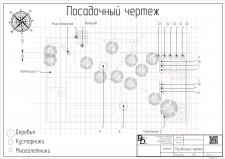 Посадочный чертеж дачного участка