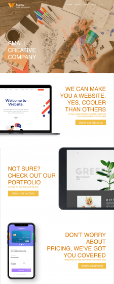 Malew - a website for small creative team