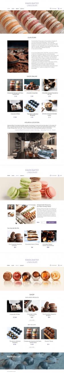 Дизайн интернет-магазина шоколада