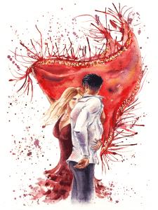 Фламенко - иллюстрация для обложки романа