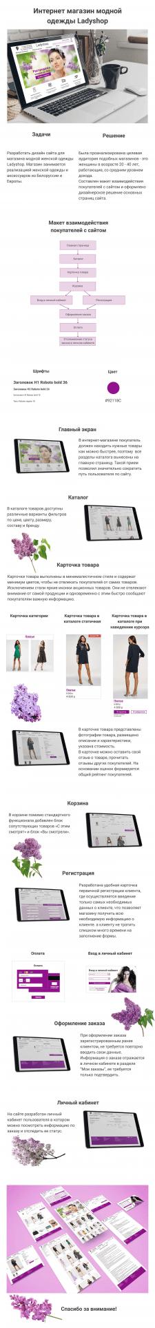 Интернет магазин модной одежды Ladyshop