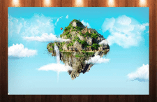 """Иллюстрация """"Летающий остров"""""""