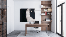 светлый домашний кабинет