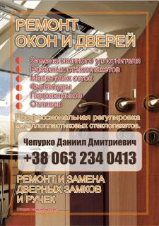 Плакат Двери