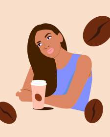 "Vector Illustration ""Coffee girl"""