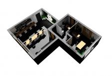 3д модель интерьера офиса