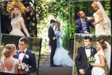 Коллажи из свадебных фото