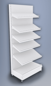 Стеллаж пристенный с перфор. панельными стенками