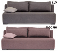 Замена обивки дивана другой тканью