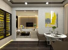 Дизайн кухни, гостиной