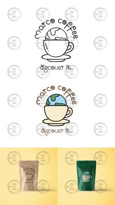 Логотип торговой марки кофе