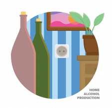 alcohol production logo