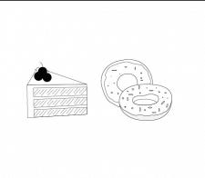 Иконки торта, пончика