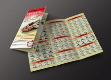 Brochure design for a sushi bar Fish'nRoll.
