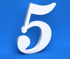 3D моделирование и визуализация цифр на синем фоне