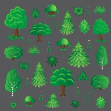 Элементы карты для браузерной игры