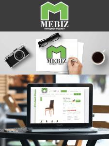 Логотип мебельного интернет магазина Mebiz
