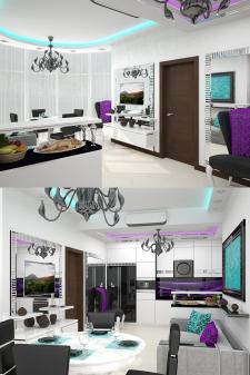 Частный дом в г. Одесса (Кухня+столовая(2))