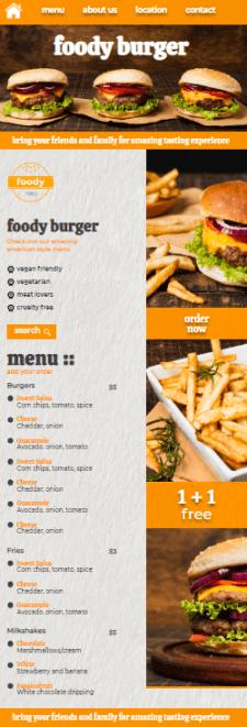 Menu Page HTML/CSS/Bootstrap