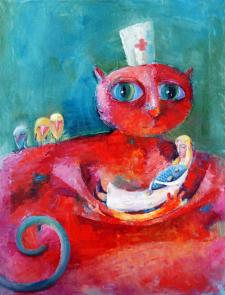 Большое врачебное животное (холст, масло) 2009
