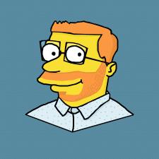 """Портрет друга в стиле """"Симпсоны"""""""