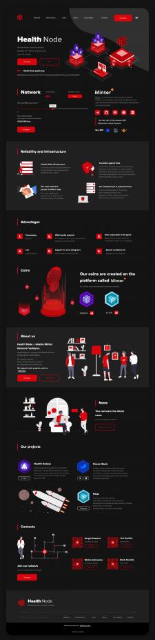 Дизайн сайта на Tilda Криптовалюты