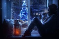 Новогодний уютный вечер (коллаж)