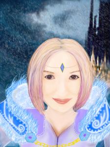 Арт с фотографии под образ персонажа с игры Dota