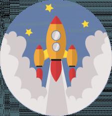 vector color rocket
