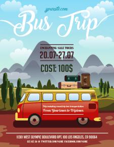 Постер для автобусного тура
