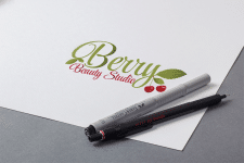 логотип для BERRY BEAUTY STUDIO