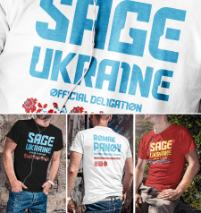 Футболки «SAGE» Ukraine deligation